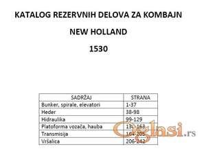 New Holland 1530 - katalog delova