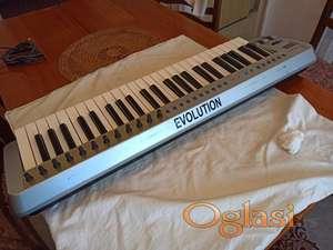 Evolution MK-249C USB MIDI Controller Keyboard 4-Octave 49-K
