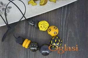 Ogrlice od drvenih perli