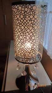 Srebrna lampa sa ukrasnim draguljima