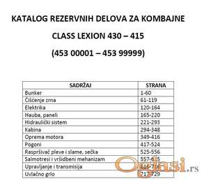Claas Lexion 430-420-415 Katalog delova