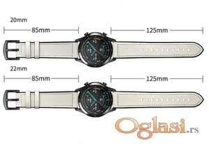 Kozni kais 20\22 mm beli huawei watch,galaxy watch