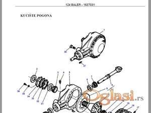 Massey Ferguson 124 - Katalog delova