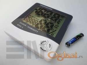 Termometar digitalni, merač vlage i sat