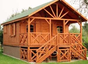 Drvene kuce FUL13 5mx5m+2m-soba, kupatilo-dnevni boravak