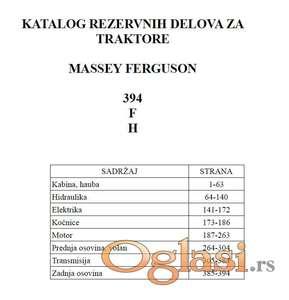 Massey Ferguson 394 F i H - Katalog delova