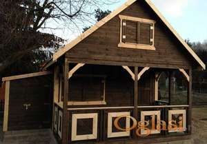 Drvene kuce brvnare FUL11 48 kvadrata + terasa