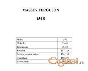 Massey Ferguson 154 S - Katalog delova