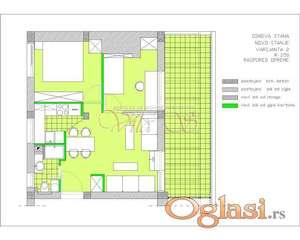 Dorćol Penthaus. 43m2 +18m2 terasa. Retko u ponudi ID#1185