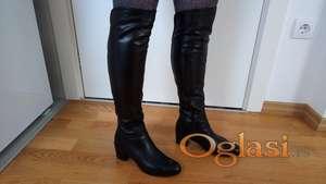 Duge čizme, prirodna 100% koža Prodotto Importato original, Italy