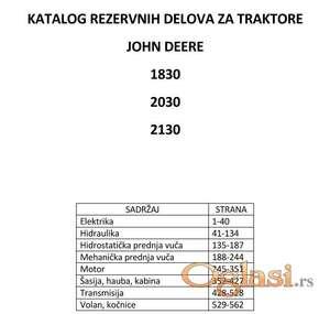 John Deere 1830 - 2030 - 2130 Katalog delova
