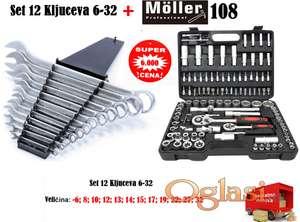 Set 12 ključeva 6-32 + Gedore 108 Moller