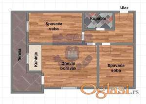 Komforan trosoban stan u izgradnji, cena je sa PDV-om!! Perfektan raspored.