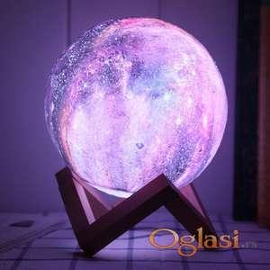 3D lampa mesec 15cm RGB + daljinski