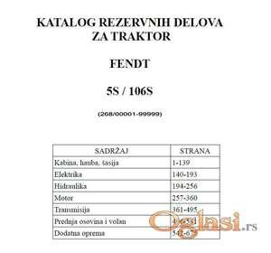 Fendt 5S /106 S (FWA 268) - Katalog delova