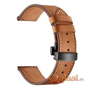 Braon kožna narukvica za Samsung Huawei smart watch