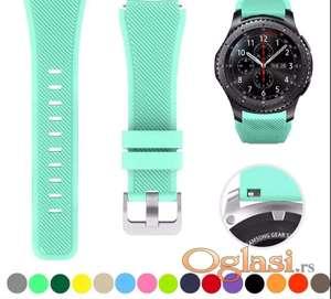Tirkizno zelena narukvica Samsung galaxy watch 46 mm