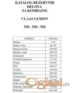 Claas Lexion 530-520-510 Katalog delova