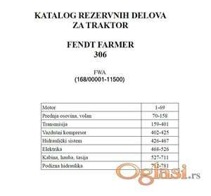Fendt Farmer 306        (FWA 168) - Katalog delova