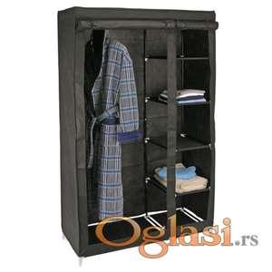 Montažni garderober sa policama, šipkom za ofingere i cipelarnikom