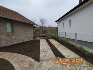 Betoniranje dvorišnih staza, dvorišne staze sa kamenom, terasa, stepenice, bedema, parkinga...