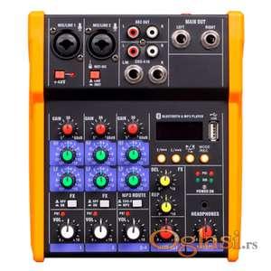 NOVO - Mali Mixeri sa dva kanal - usb - Blytooth