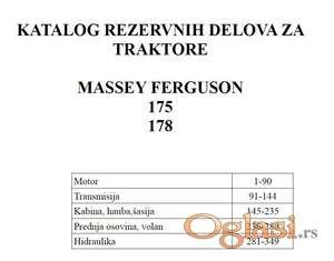 Massey Ferguson 175 i 178 Katalog rezervnih delova