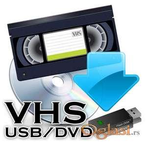 Prebacivanje VHS na DVD  600 din po kaseti