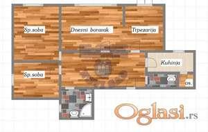 Fenomenalan trosoban stan komplet renoviran na Suncanom keju!!!021/662-0001