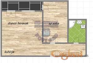 Strukturno odlican dvosoban stan u izgradnji sa povratom PDV-a na Salajci!!!021/662-0001