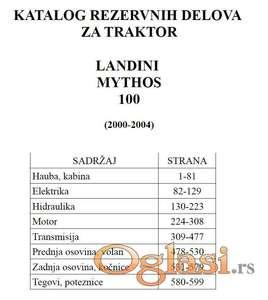 Landini Mythos 100 - katalog delova