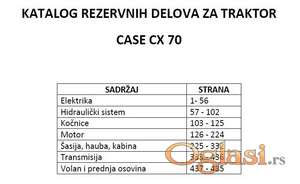 Case CX 70 Katalog rezervnih delova