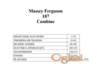 Massey Ferguson 187 kombajn - Katalog delova
