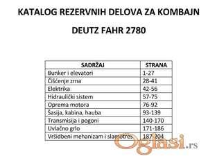 Deutz Fahr M 2780 - Katalog delova