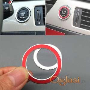 BMW prsten oko start stop dugmeta za E90LCI - crveni