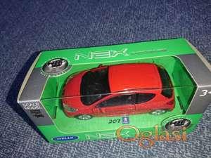 Metalni autić - Peugeot 207