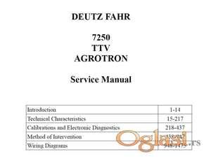 NE AKTIVIRATI Deutz Fahr Agrotron 7250 TTV  - Radionički priručnik