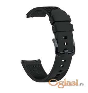 Crna narukvica 20mm 22mm (silikonska narukvica)