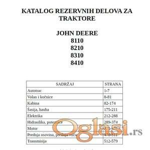 John Deere 8110 - 8210 - 8310 - 8410  Katalog delova