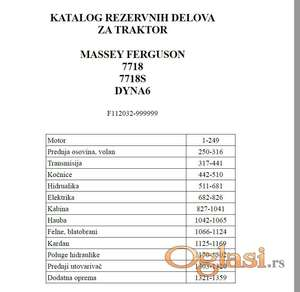 Massey Ferguson 7718-7718S  Katalog delova