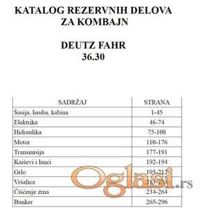 Deutz Fahr 36.30 - Katalog delova