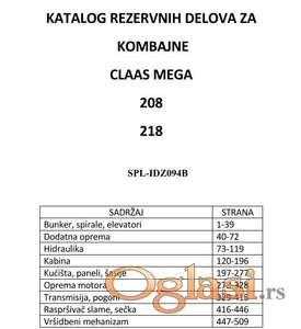 Claas Mega 208 - 218 katalog delova