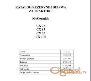 McCormick CX 75-85-95-105 Katalog delova