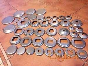 Metalne , aluminijumske i inox rozetne i poklopci za cevi ( stepeništa i ograde i gelendere )