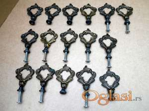 Rucice za ormane stilske mesingane 16 kom. koriscene