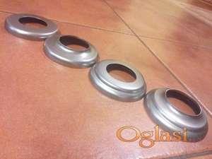 Rozetne za cev fi 50 mm metalne , inox (prohrom) i aluminijumske