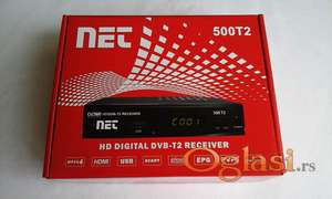 Set Top Box NET 500T2 + RF modulator.