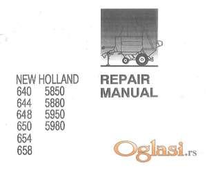 Rolo balirke  New Holland 640-644-648-650-654-658-5850-5950-5980 Radionički priručnik