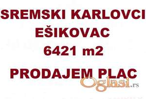 PLAC - SREMSKI KARLOVCI - EŠIKOVAC PUCAVAC -  6421  m2 - 193200 Evra ID#1228