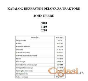 John Deere 6010 - 6110 - 6210 Katalog delova